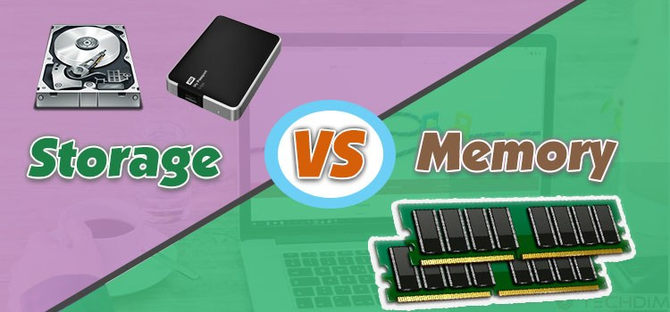 Storage vs Memory