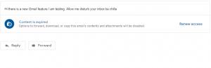 renew access confidential mode