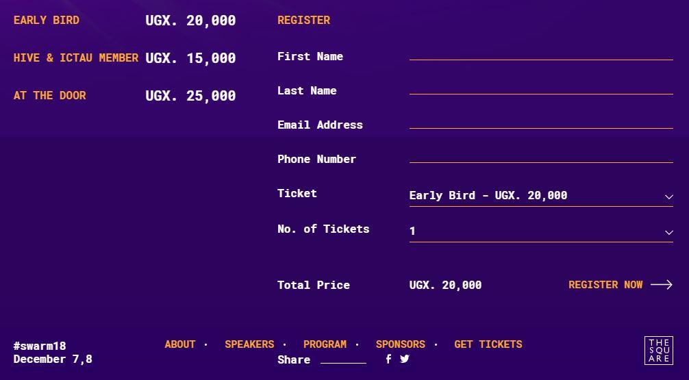 swarm summit 2018 tickets