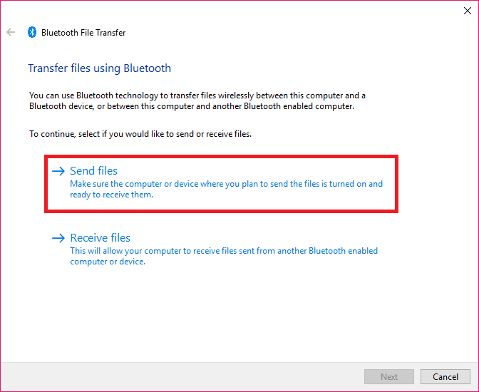 How to share files via Bluetooth on Windows PC - Dignited