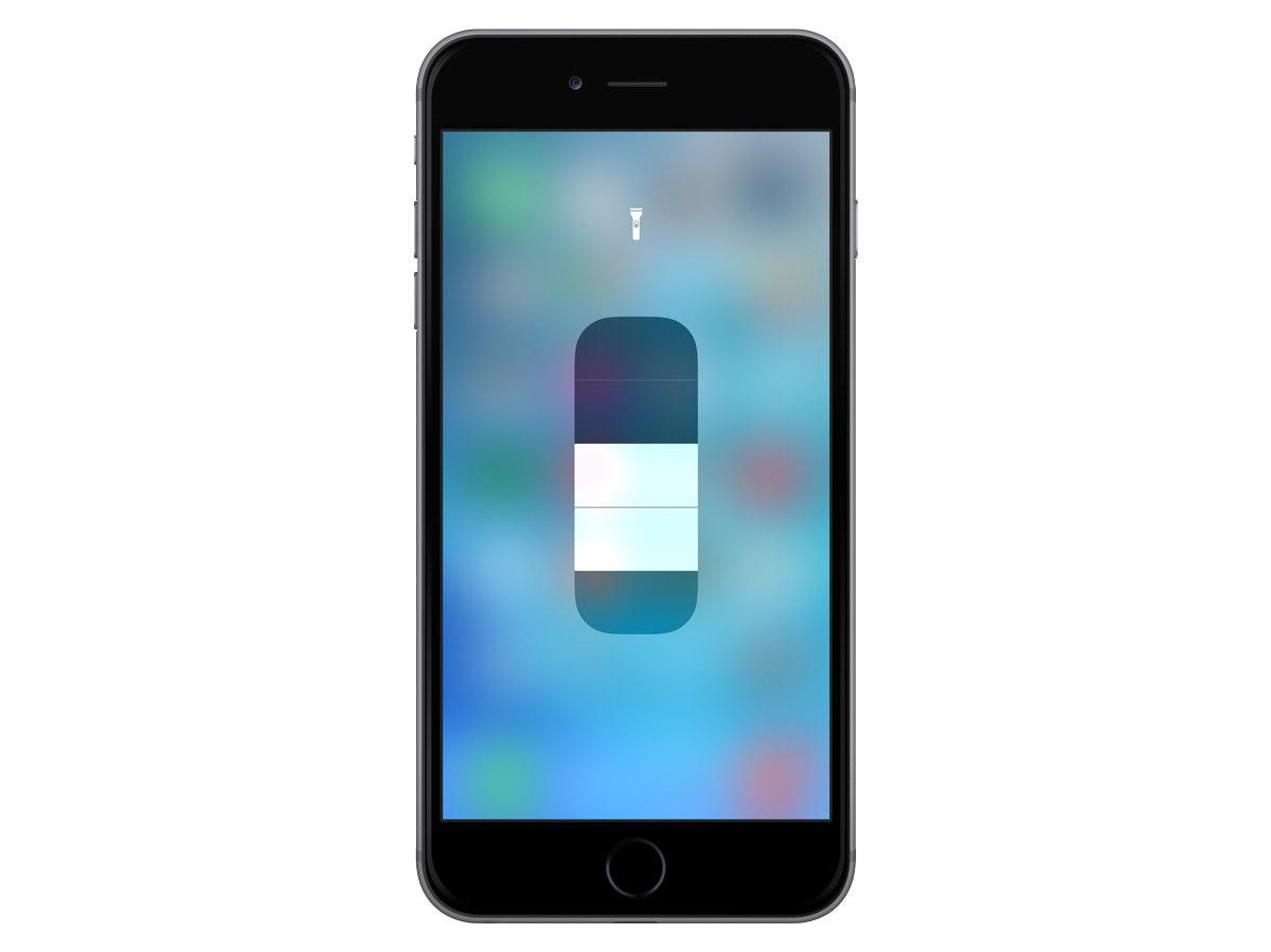 Adjust flashlight brightness iPhone