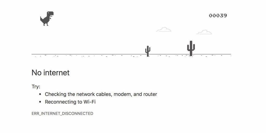 No Internet? Play Chrome Browser's Offline Dinosaur Game ...