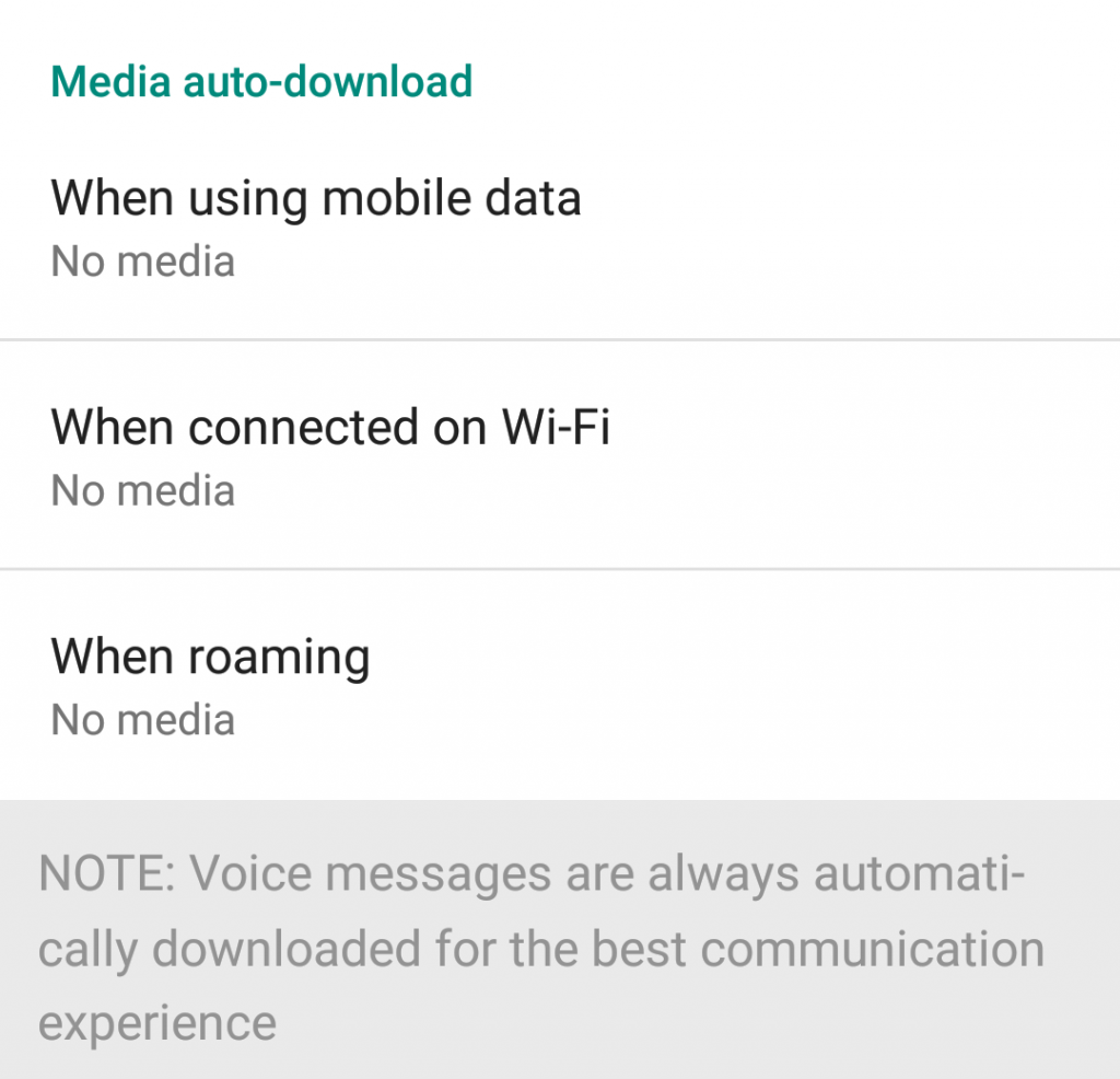Stop Whatsapp media auto-download