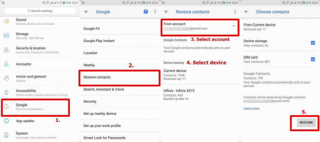 How to Backup and Restore Contacts to Google Drive on Android