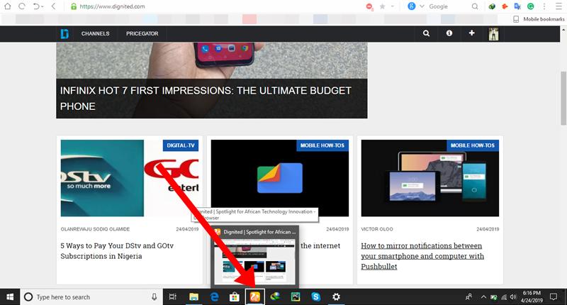 How to Access the Taskbar in Full-Screen mode on Windows 10
