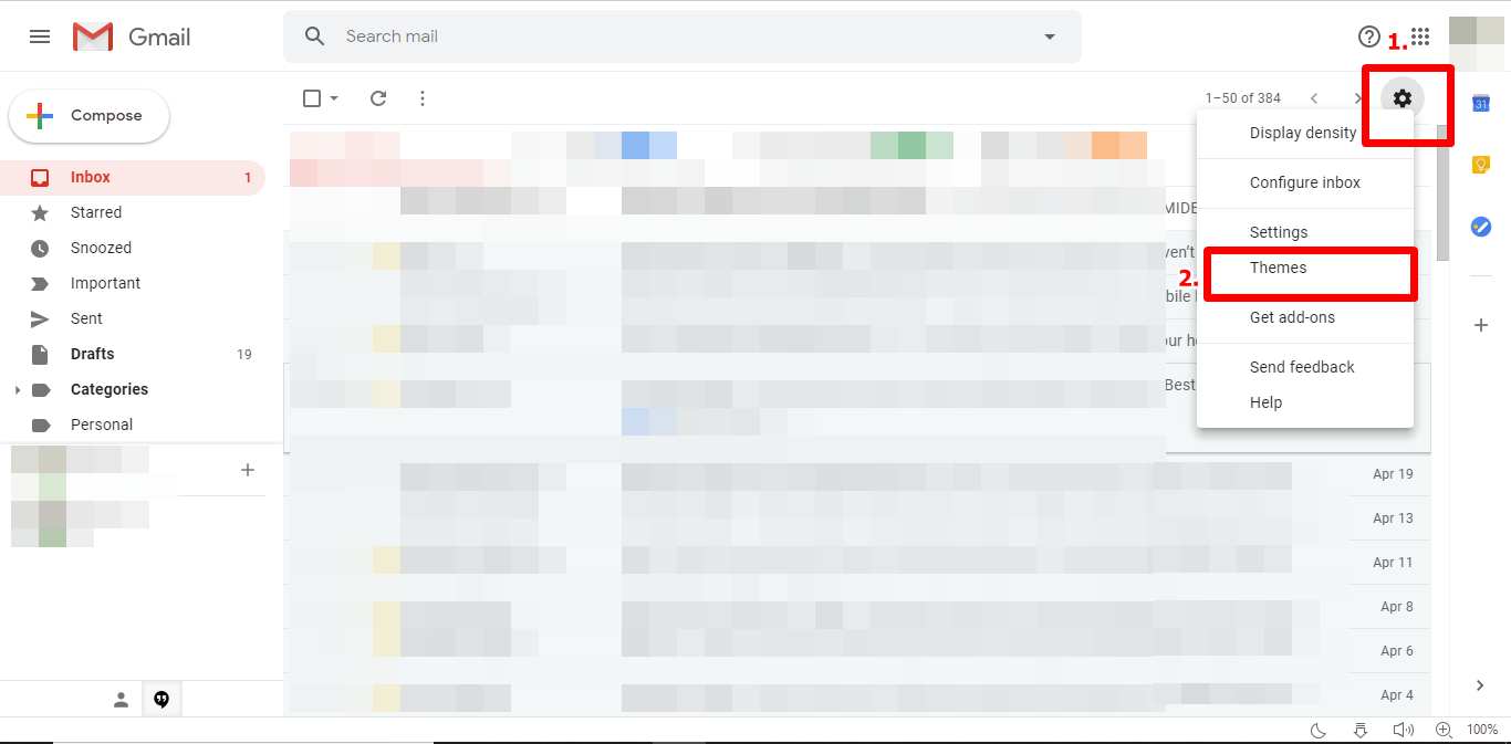 Change Gmail Background Theme