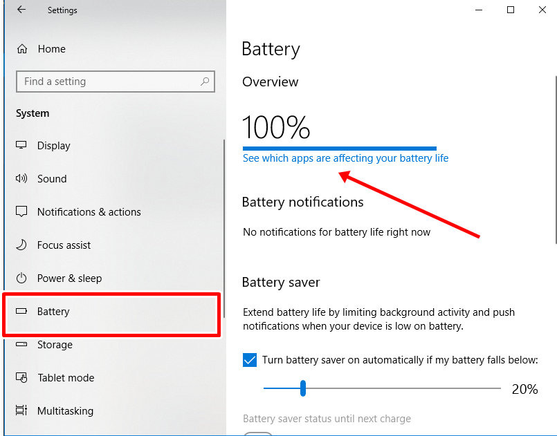 How to Check Battery-Consuming Apps on Windows 10