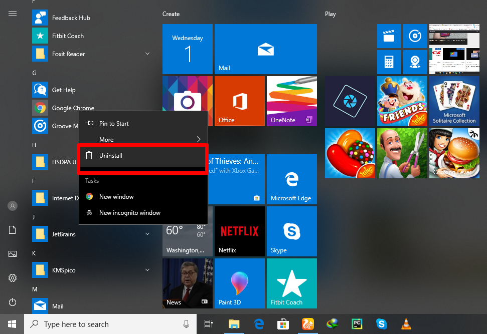 Uninstall Programs on Windows PC
