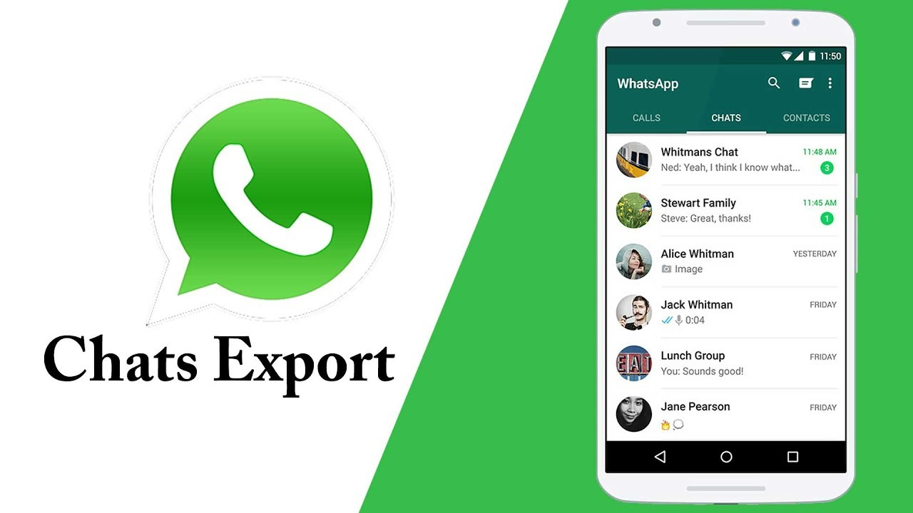 Exporting Chats on WhatsApp