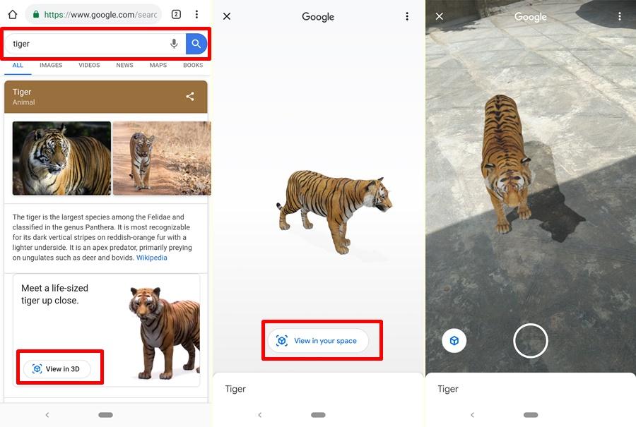 google ar image search
