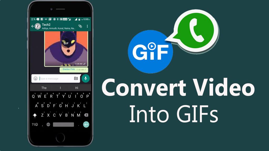 convert video to gif on Whatsapp
