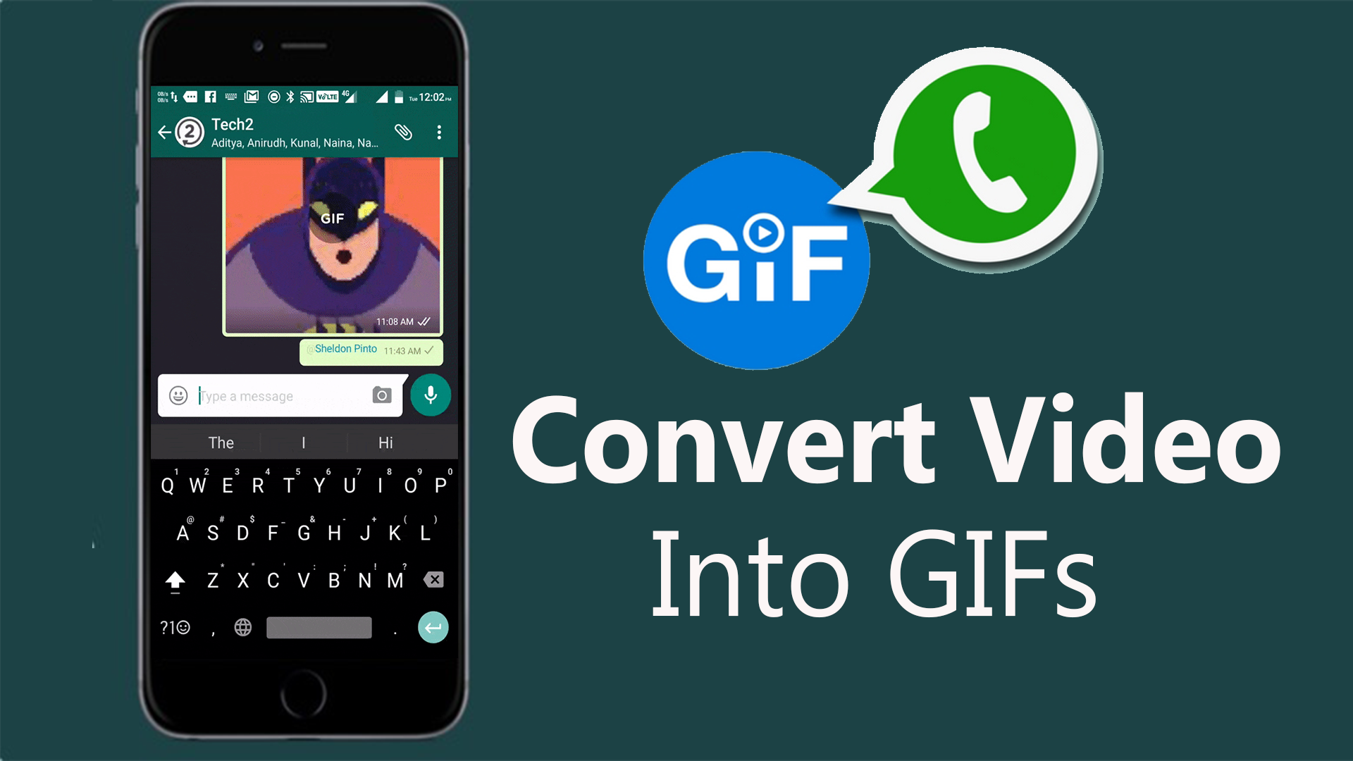 convert video to gif on Whatsapp