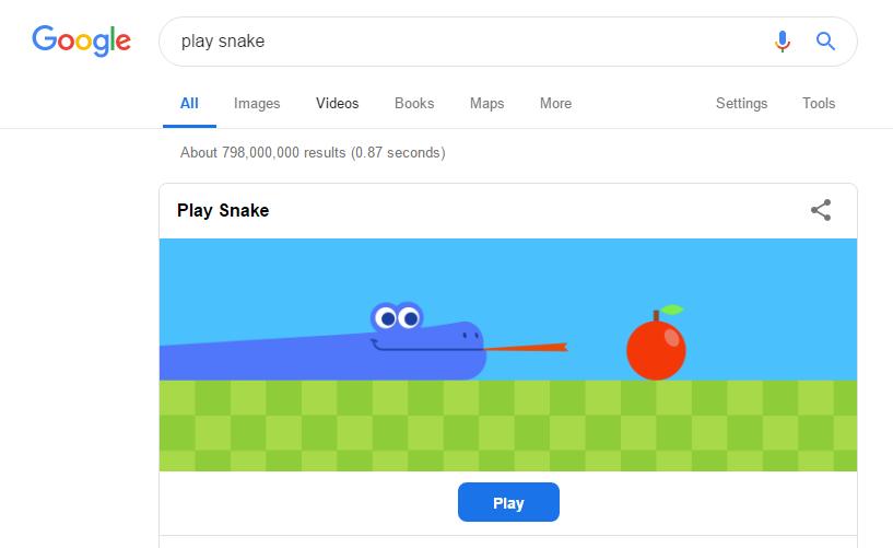 Hidden Google games