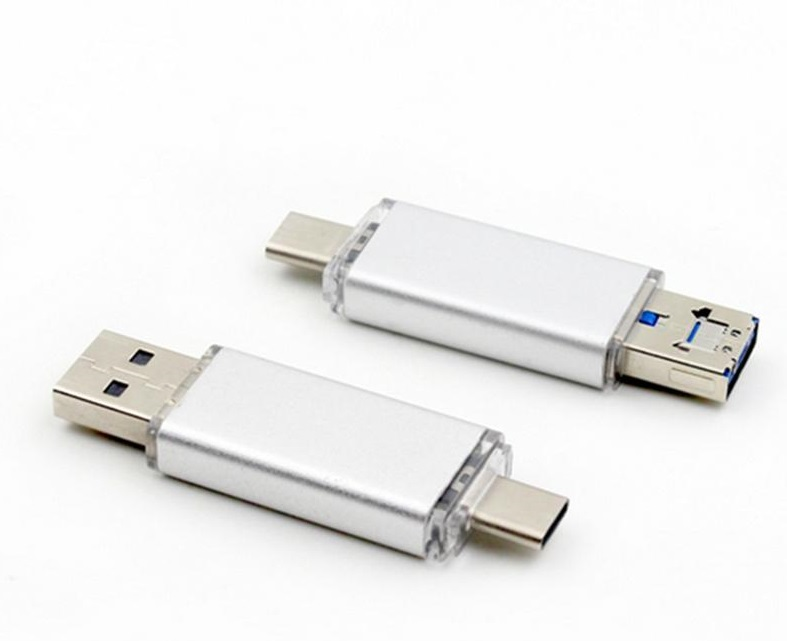 USB flash with MicroUSB/USB Type-C connector