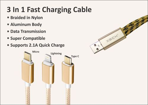Fast charging cables