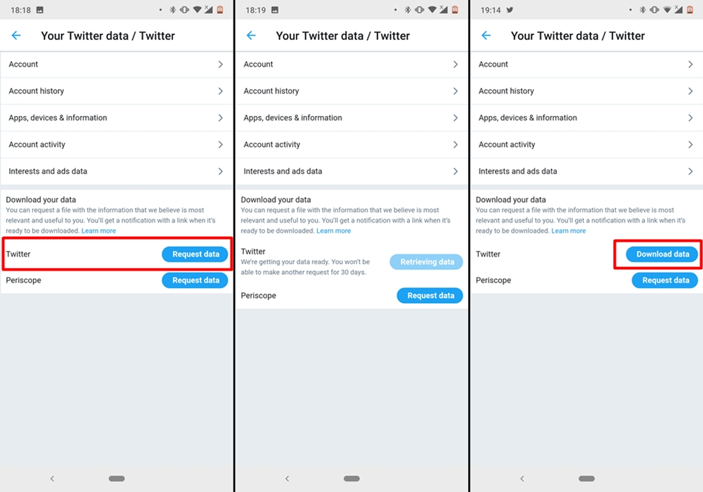 How to download your Twitter account data