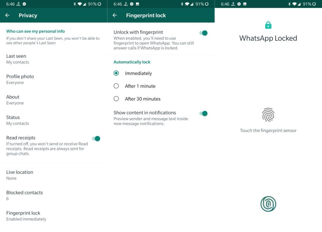 WhatsApp-Fingerprint-Unlock