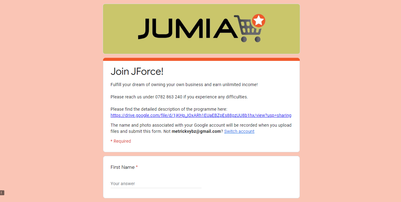 join jumia JForce
