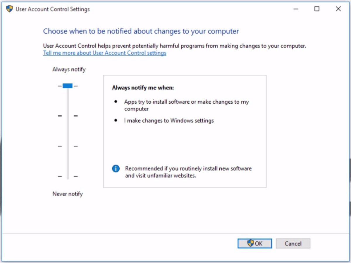 windows user account control