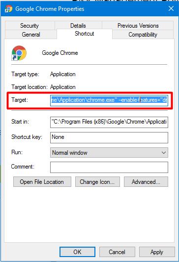 enable DNS-over-HTTPS Chrome