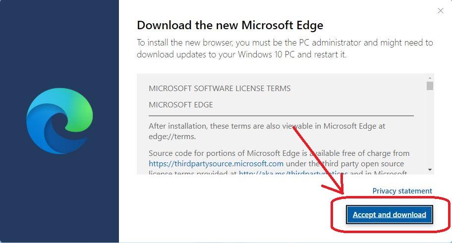 how to install new microsoft edge on windows 10