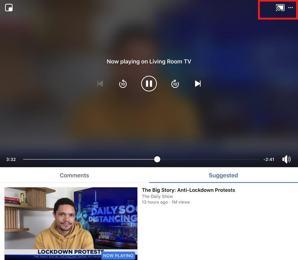 watch facebook videos and live stream on TV