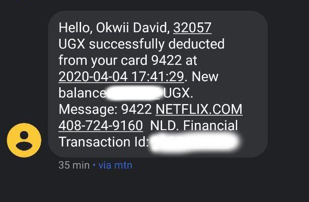 netflix mobile money