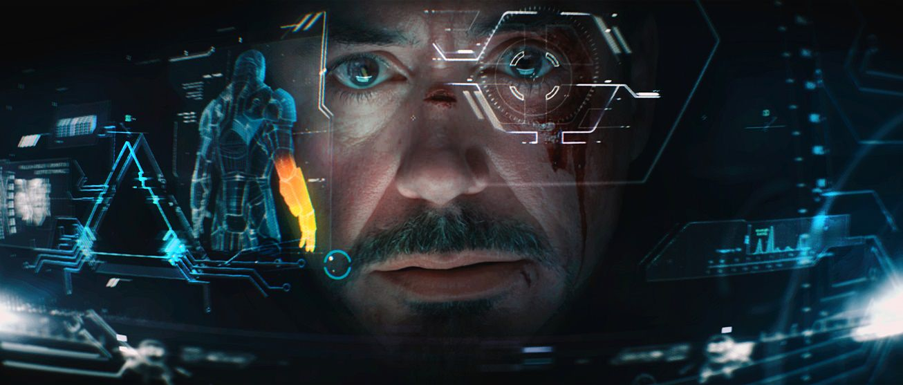 Scene in Iron Man 3 showing AR