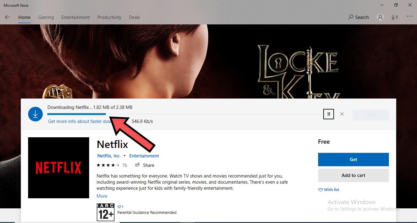 netflix app on windows 10