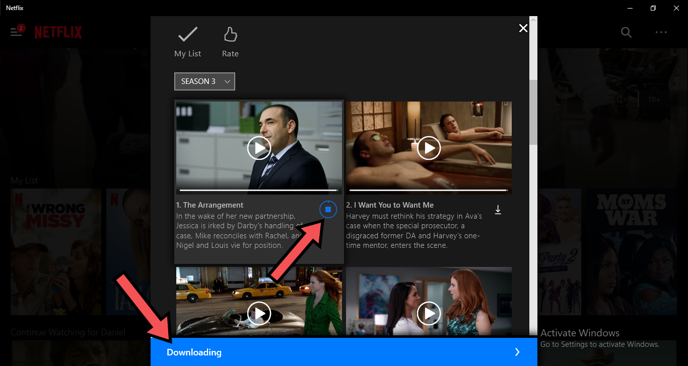 Download movies on Netflix to Windows 10 PC