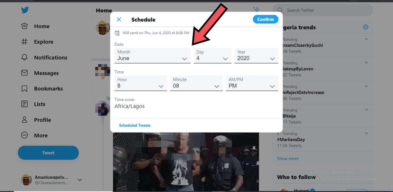 schedule tweets on Twitter