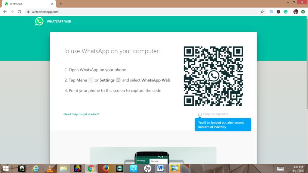whatsapp web guide