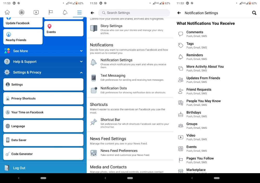 manage android notifications