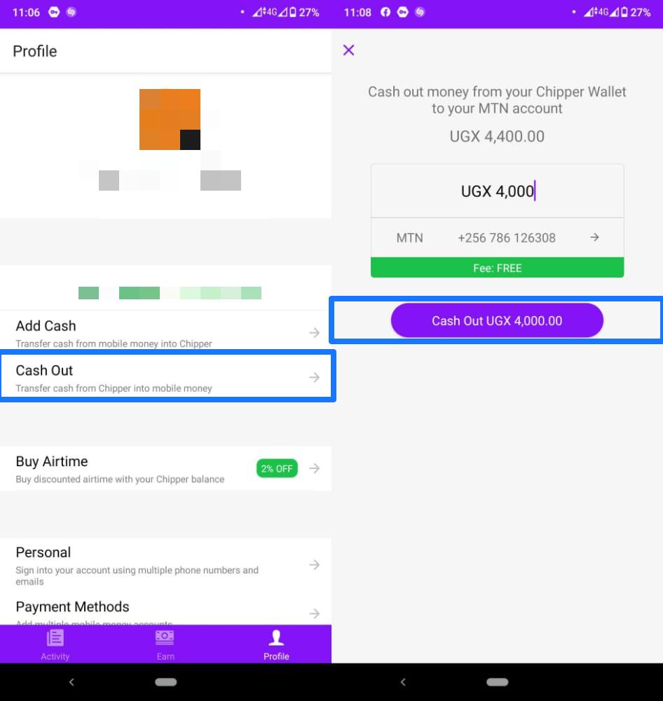 send money airtel mtn chipper cash uganda
