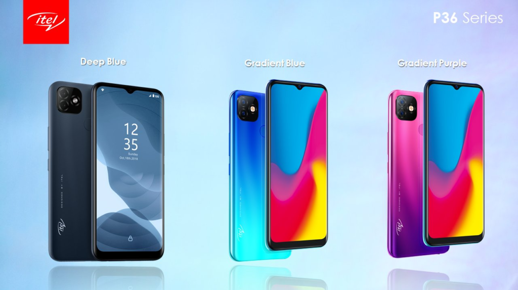 iTel P36 series colors