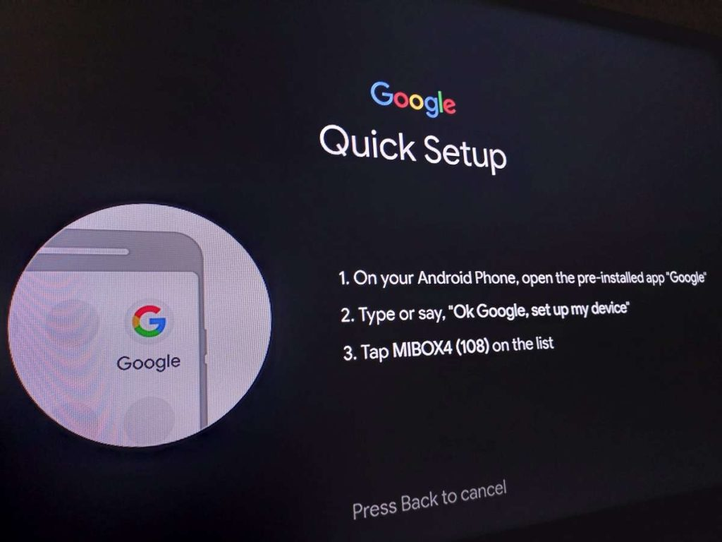 Setting up Mi Box using Android device