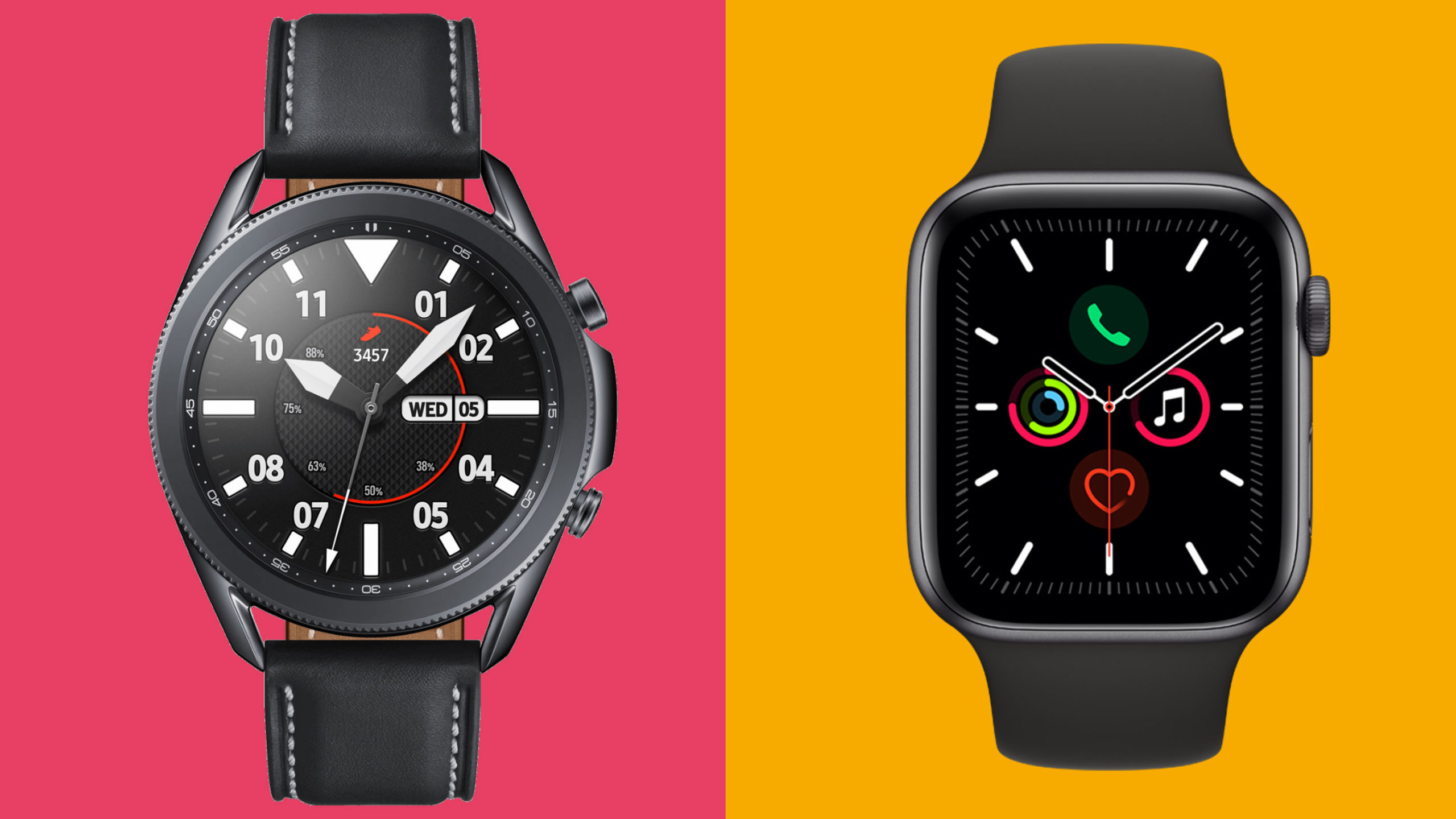 Samsung Galaxy Watch 3 vs Apple Watch 5