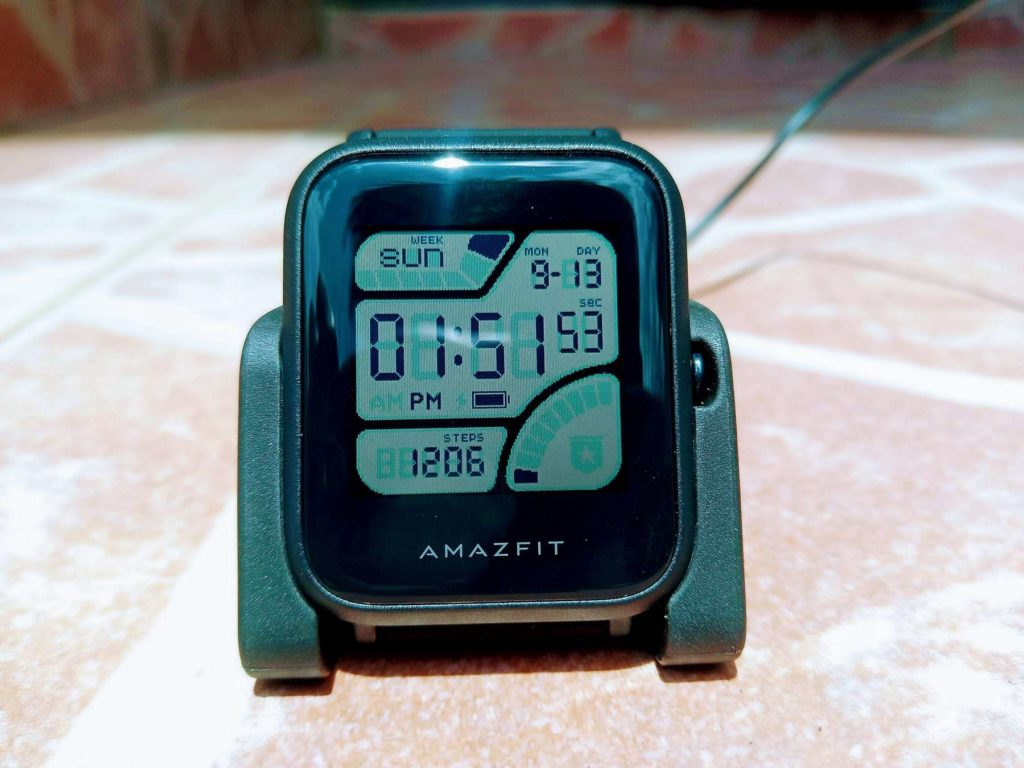 Amazfit Bip always-on display