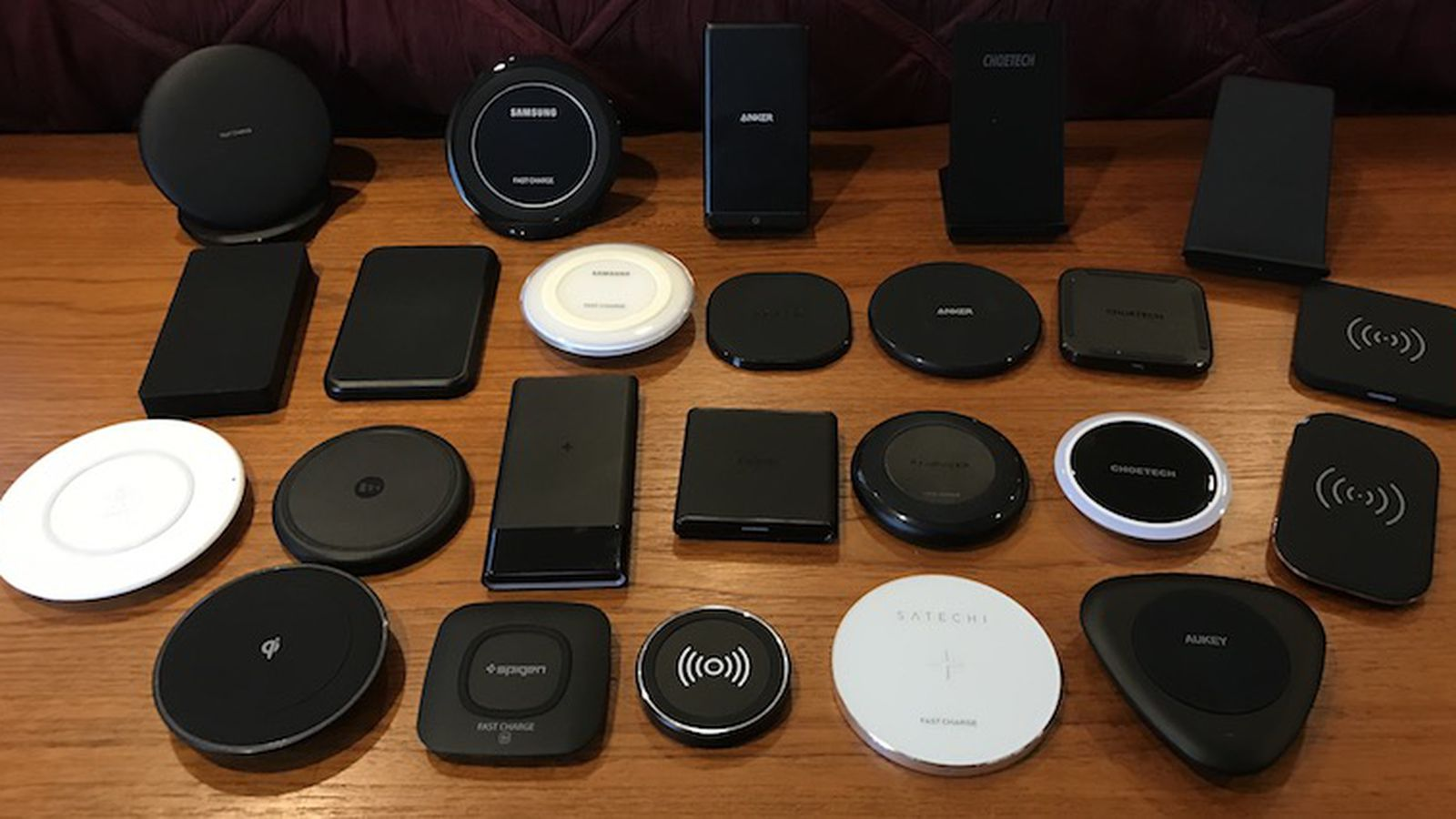 wireless chargers for iPhones and Android phones