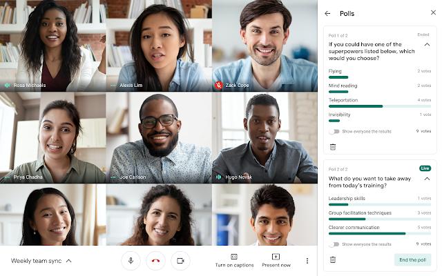 Google Workspace Meet gets new poll feature