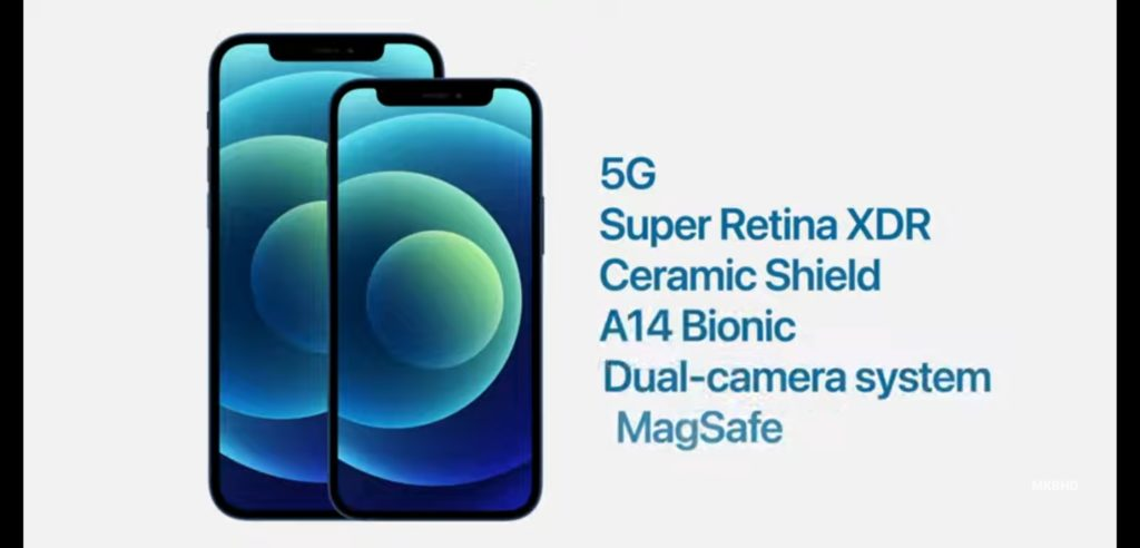 iPhone 12 mini with iPhone 12