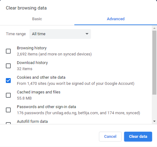 Clear Browser Cache Files