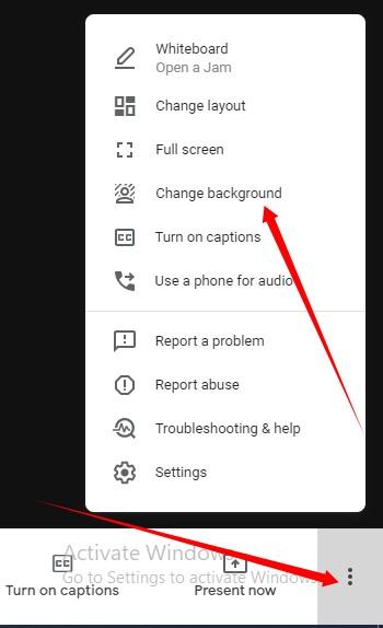 Change Background Google Meet