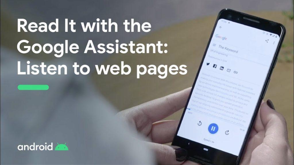 Read it google assistant