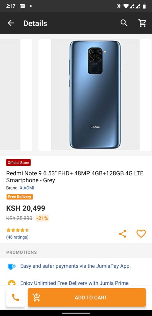 Redmi Note 9 Jumia Kenya Black Friday