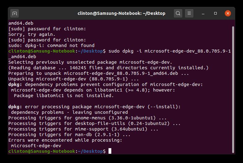 dpkg install microsoft edge ubuntu