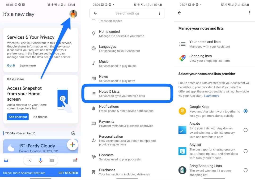Setting up Google Assistant to create and edit notes in your favorite notes app