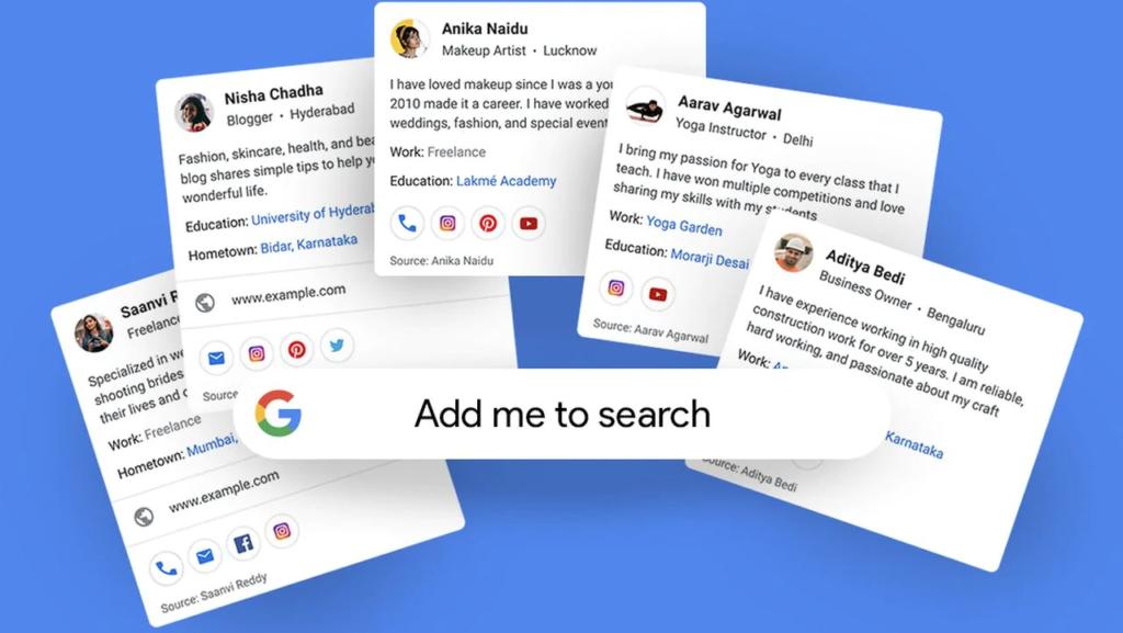 Add Me To Search virtual google card