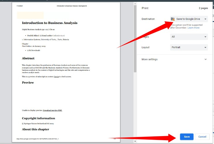 save webpages PDFs google drive
