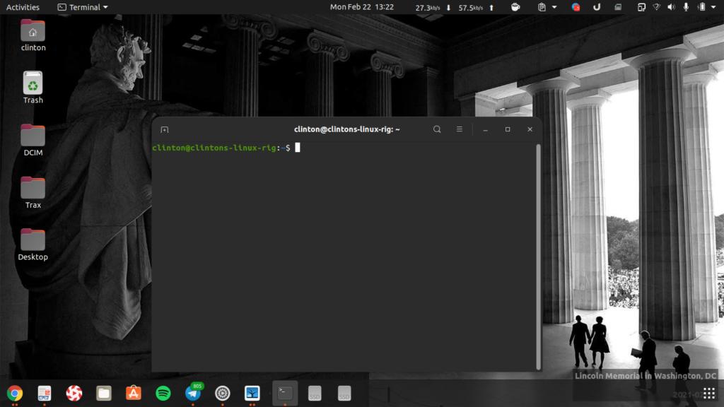 Terminal on Ubuntu